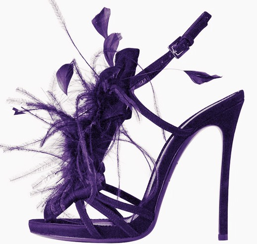 Stylish feather decor sandals platform ankle buckle cut out open toe supper high runway sandals fashion woman summer shoes in High Heels from Shoes