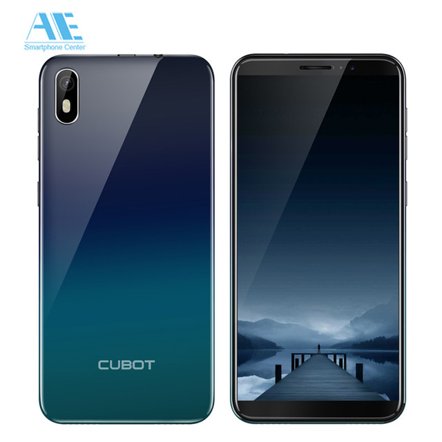 Cubot J5 5.5 Inch 18:9 Full Screen 2GB 16GB MT6580 Quad-Core Smartphone Android 9.0 2800mAh 3G Dual Nano Sim Celular Cellphone