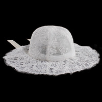 2018 New Sun Beach Cap Summer Outdoor Bucket Hat Women Floral Print Panama Cap Lovely Lace Princess Girl Brim Sun Hats