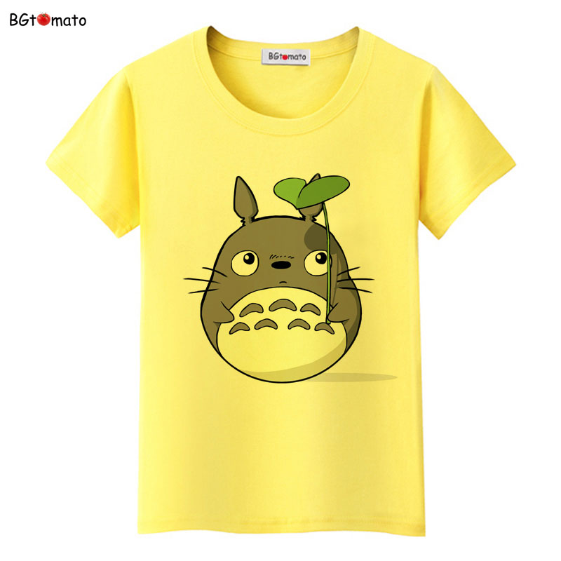 BGtomato famous cartoon Totoro t shirts for women super lovely cat shirts Brand good quality casual tops hot sale in T Shirts from Women 39 s Clothing