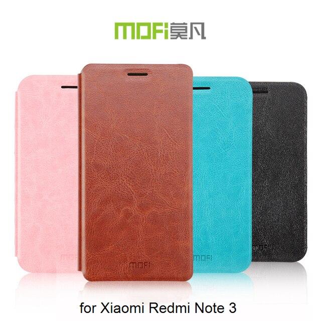 Redmi Note 3 Cases Original MOFI Rui Book Style Slim leather case For Xiaomi Redmi Note 3 flip cover Smartphone bag + stand MF01