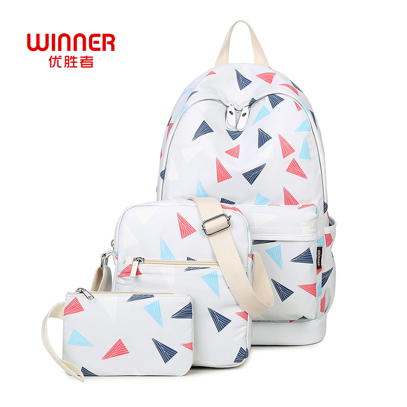 WINNER Brand Women Canvas Backpacks High Quality Printing Backpack Middle School Student Preppy Style Casual Laptop