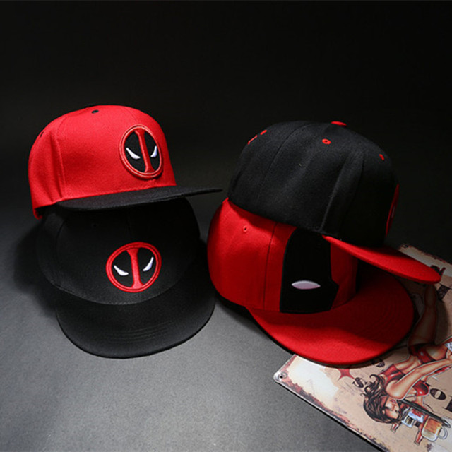 060623ec40d964 2018 Fashion Unisex Deadpool Embroidery Baseball Caps Men Women Funny Marvel  Hat Adjustable Snapback Casquette Hockey Caps