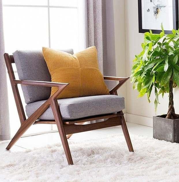 Modern Design Fashion Solid Wood Luxury Living Room Fabric Pad