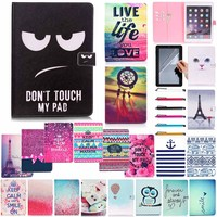 Multiple Denim Case For Apple IPad Mini 4 Smart Flip Cover For IPad With Card Holder