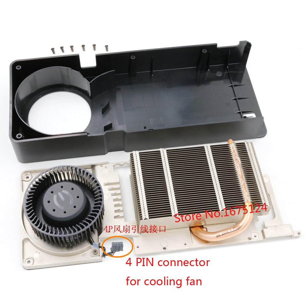 Radiator with cooper heatpipe cooling fan for Reference design GTX650Ti GTX660 GTX 650Ti 660 computer grahics card VGA cooler computer radiator cooler of vga graphics card with cooling fan heatsink for evga gt440 430 gt620 gt630 video card cooling