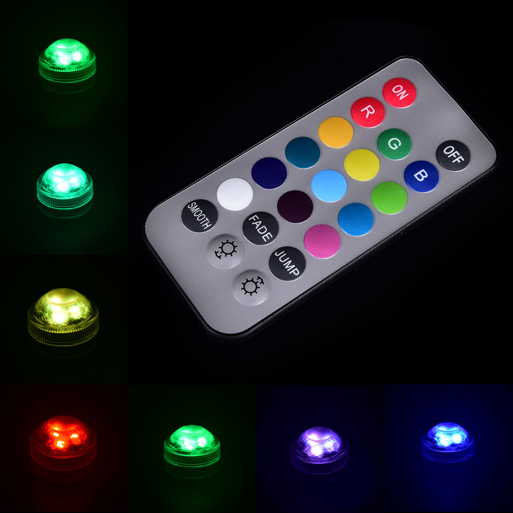 3 Led Submersible Light Battery Waterproof Pool Pond