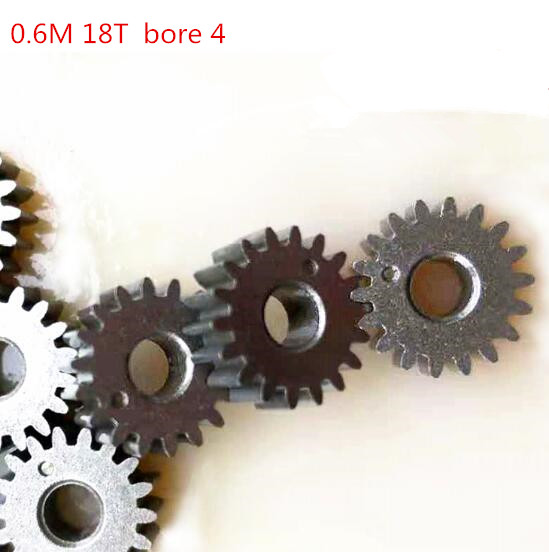 10pcs Motor Gear Metal Gears Mini Pinion 18T Teeth Modulus 0.6 metal gear for RC Model Connector Gears     - title=