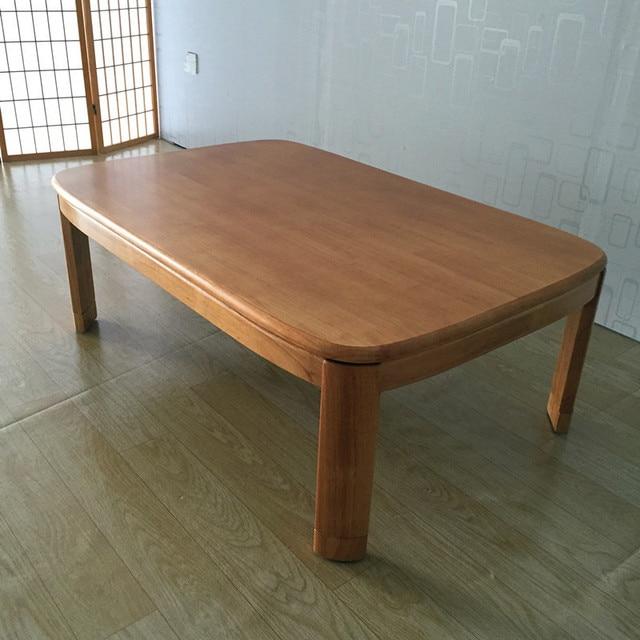 japonais kotatsu table basse rectangle 120 cm naturel finition salon meubles pied warmer chauffe plancher - Table Japonaise Basse