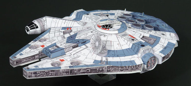 US $8 24 |Paper toys New Fun Cute 3D DIY Star Wars Millennium Falcon Paper  Model Puzzle DIY Improve intelligence patience-in Model Building Kits from
