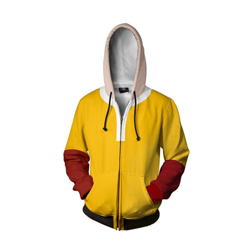 One Punch Man Hero Saitama Oppai Cosplay Costume Boys Hoodie Jacket Sweater Coat