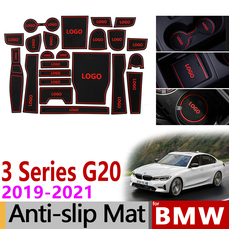 Anti-Slip Mat for Phone Gate Slot Mats for BMW 3 Series G20 G21 2019 2020 Car Accessories Stickers 320 330 318 320i 330i 318d M image