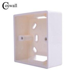 Coswall الخارجية تصاعد مربع 86 مللي متر * 86 مللي متر * 34 مللي متر ل 86 مللي متر * 86 مللي متر القياسية مفاتيح و مآخذ تطبيق ل أي موقف من سطح الجدار