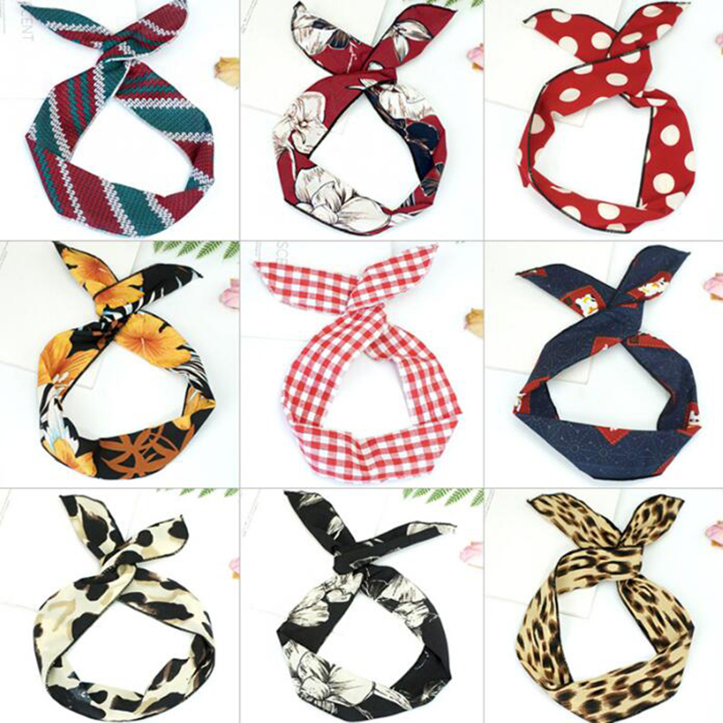 2019 New Fashion Headdress DIY Bow knot Headband Korea Style Dot Women Hair Accessories Warm Red Hair Bands For Girls Headwear in Women 39 s Hair Accessories from Apparel Accessories