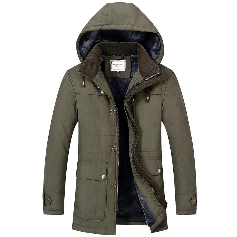 Nouveau mode hommes Parka manteaux épaissir chaud hiver haute qualité vestes décontracté mâle Slim Fit Parka vêtements à capuche taille M-4XL