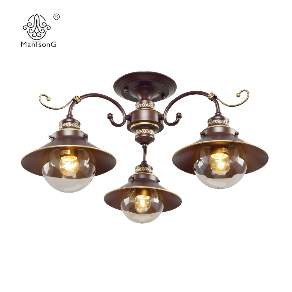 Classical Ceiling Lamp Glass Antique Iron E27 Vintage 3/5 Heads Indoor Lighting Home Decoration Chandelier Living Room Lights european crystal chandelier living room decoration home lighting luxury glass chandeliers hotel hanging lights indoor wall lamp