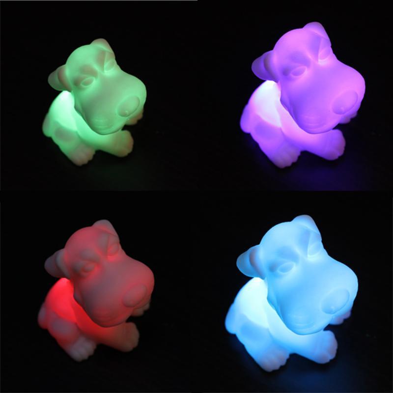 Colorful Christmas Wedding Decoration  Lamp LED 7 Color Changing Dog Children Room Night Sleep Light Gift FULI