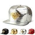 Nuevo Grano Del Cocodrilo Cruz de la Aleación de Mareas Gorra de Béisbol Hombre Mujer Hip Hop Sombrero Snapback de Oro/Plata/Rojo/negro