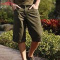 Free Army Brand High Quality 2016 Mens Shorts Army Green Cotton Mid Plus Size Pockets Males Camouflage Fashion Short Pant MK-731