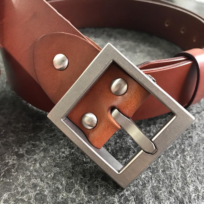 38 Mm Tan Leather Standard+ Hypoallergenic Detachable Titanium Belt Buckle