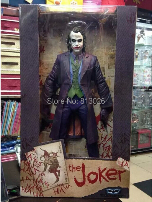 45cm Batman The Dark Knight The Joker Action Figures PVC brinquedos Collection Figures toys for christmas gift With Retail box toys rocka batman the dark knight joker pvc action figure collectible model toy eyes can move 14cm