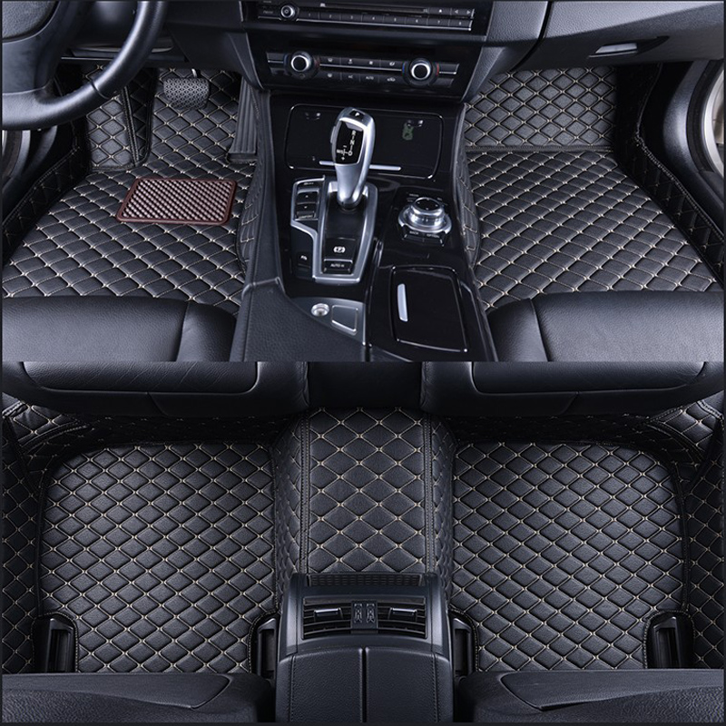Custom car floor mats for Porsche Cayenne 955 957 958 hybrid Turbo S GTS Macan Cayman Panamera 911 high quality luxury carpet(China)
