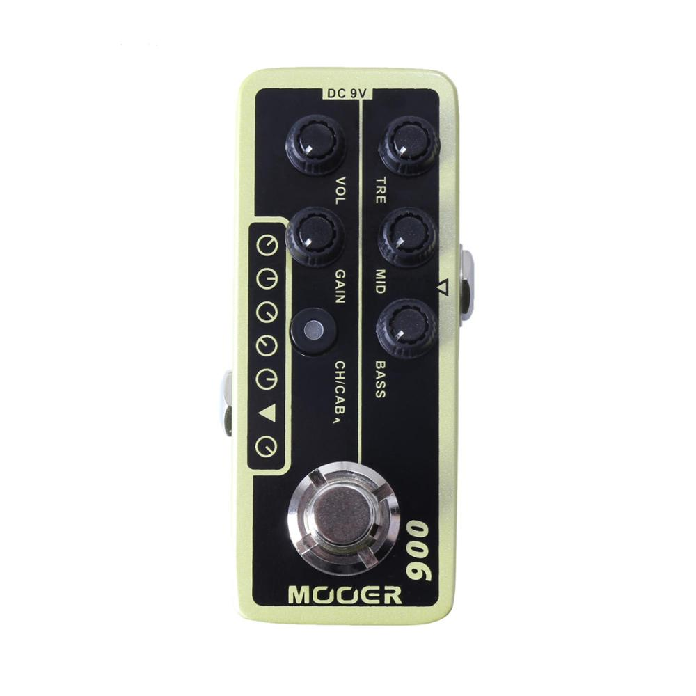 цена на MOOER 006 US Classic Deluxe Micro Preamp Electric Guitar Pedal High Quality Dual Channel Preamp Independent 3 Band EQ
