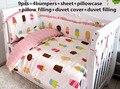 ¡ Promoción! 6/7/9 UNIDS ropa de cama juegos de cama de bebé para niño recién nacido cuna bumpers beige bebés niñas, 120*60/120*70 cm
