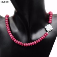 MLA Classic Handcrafted Gorgeous Rubies Beaded Necklaces Chain Length 45cm 1 Pcs