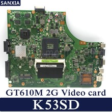KEFU K53SD Laptop motherboard for ASUS K53SD K53E original mainboard GT610M-2G for asus k53sd main board rev 5 1 laptop motherboard intel hm65 nvidia geforce gt610m graphics ddr3 full tested