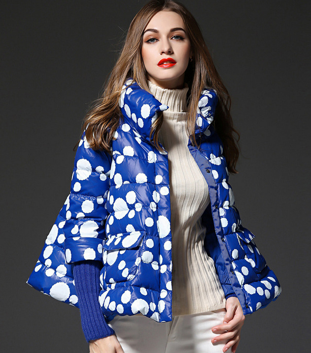 Loose fit cloak style white duck down jackets women down coats 2018 autumn winter new collection MOVAU0175