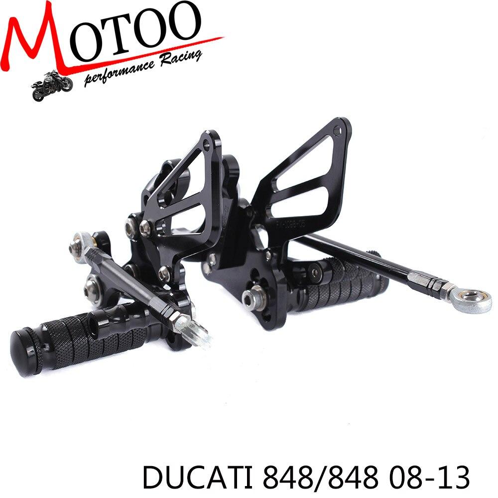 ФОТО Motoo -Full CNC aluminum Motorcycle Rearsets Rear Set For DUCATI 848 /848 EV0 2008-2013
