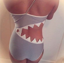Women Sexy Bodysuit Female Swimsuit SHARK BITE CUT OUT MONOKINI Maillot De Bain One Piece Swimsuit Bathing Suit