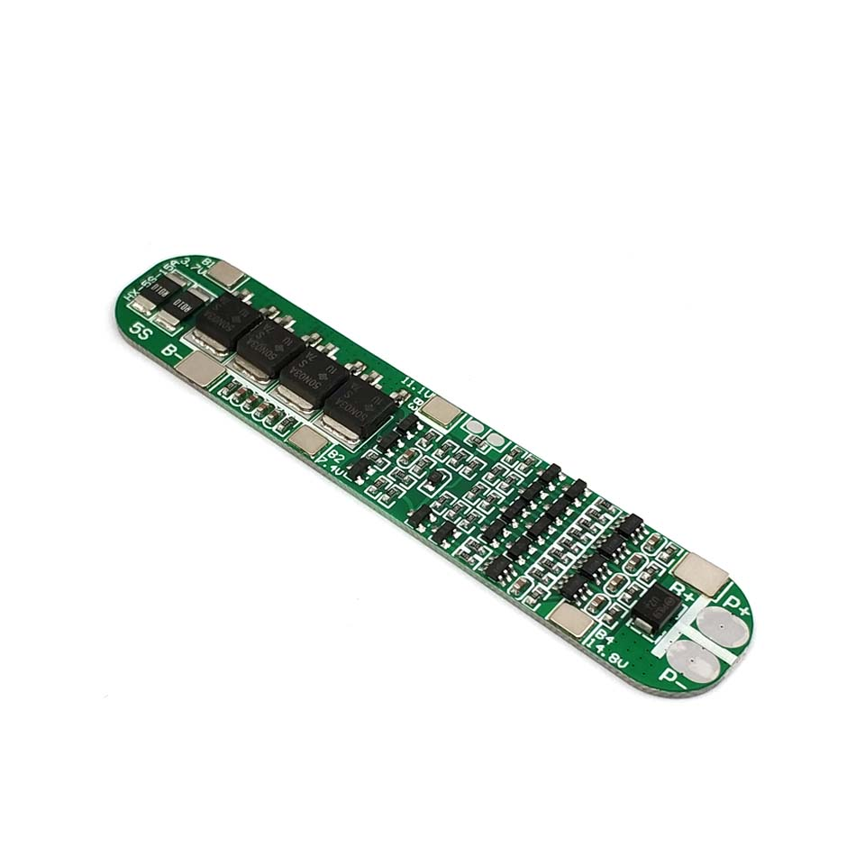<font><b>5S</b></font> 15A Li-ion Lithium Battery <font><b>18650</b></font> Charger PCB BMS 18.5V Cell <font><b>Protection</b></font> Board Integrated Circuits image