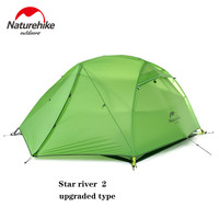 Naturehike Tent Star River Upgraded Camping Tent Ultralight for 2 Person 4 Season 20D Silicone Tent With Free Mat NH17T012 T