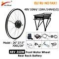 Ebike комплект преобразования 48V 350W с батареей мотоцикла Электрический велосипед комплект 26
