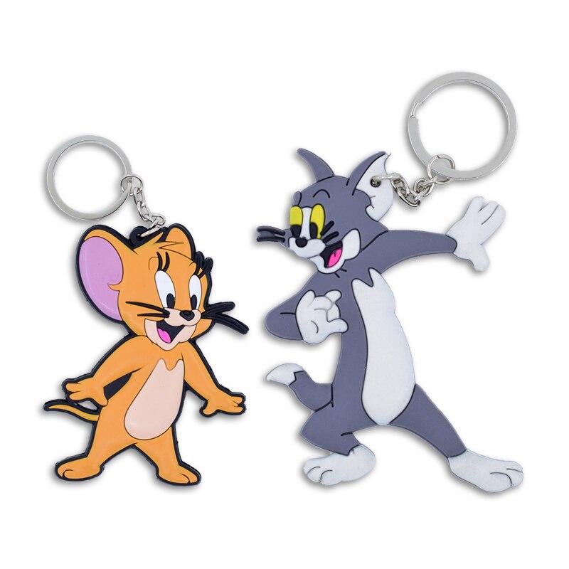 BFQ Tom Jerry Key Chain Key Ring Soft PVC Keychain Gift For Bag Pendant 2018 New Charm Cute Cartoon Accessories