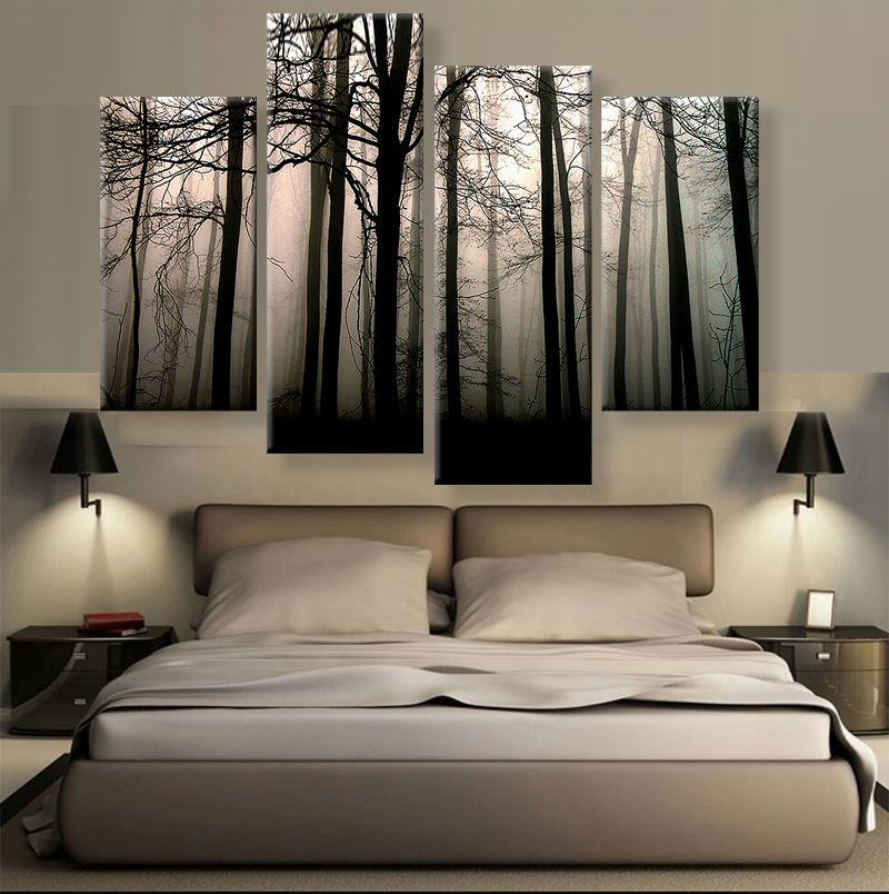 4 Panels Modern Canvas Prints Artwork Landscape