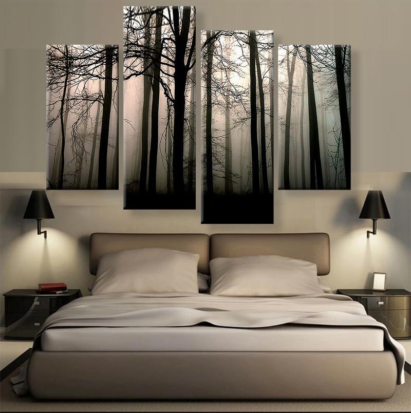 4 Panels Modern Canvas Prints Artwork Landscape Pictures