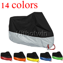 14colors M,L,XL,2XL,3XL,4XL universal Outdoor Uv Protector Bike Rain Dustproof for Scooter Covers waterproof Motorcycle cover