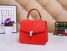 Women Genuine Leather Handbags Shoulder Messenger Bags Real Cowhide Crocodile Grain Korean Luxury Famous Brand Tote Style