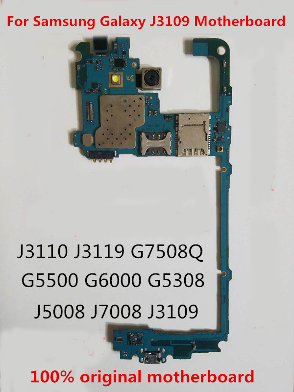 GIFT+TOOL+Full Working 100%Original Unlocked For Samsung Galaxy J3109 Motherboard Logic Mother Circuit Board Plate