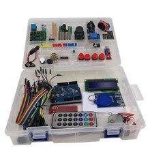 عدة مبتدئين باستخدام موجات الراديو لأردوينو UNO R3 نسخة مطورة من البرنامج التعليمي مع صندوق البيع بالتجزئة