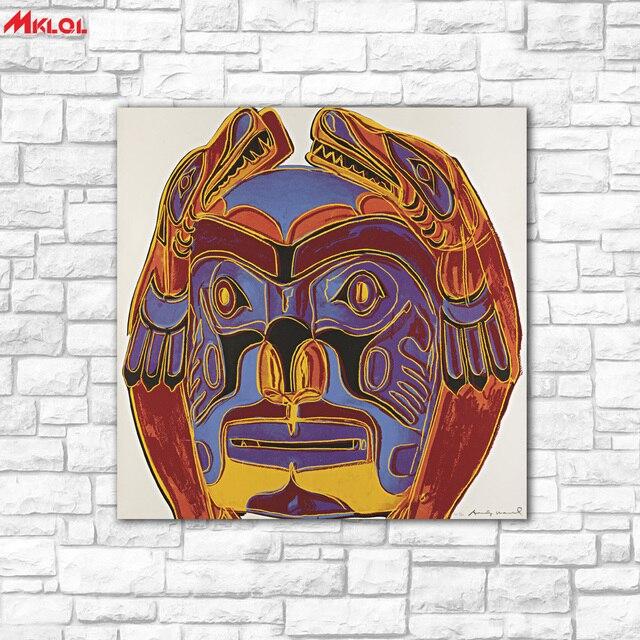 Wandkunst Totem Kopf Olgemalde Wandkunst Bild Paiting Leinwand