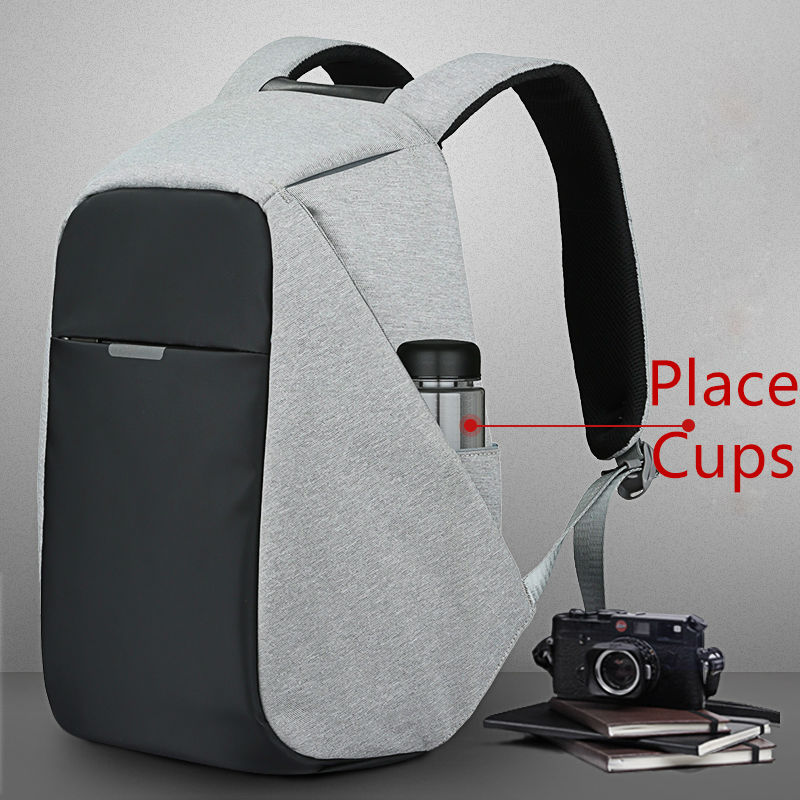 Anti Theft Backpack Travel Bags With Usb Charger Cut Proof Hidden Zipper Secret Pockets Cases For Laptop Mobile Phone Cup In Smart Accessories From