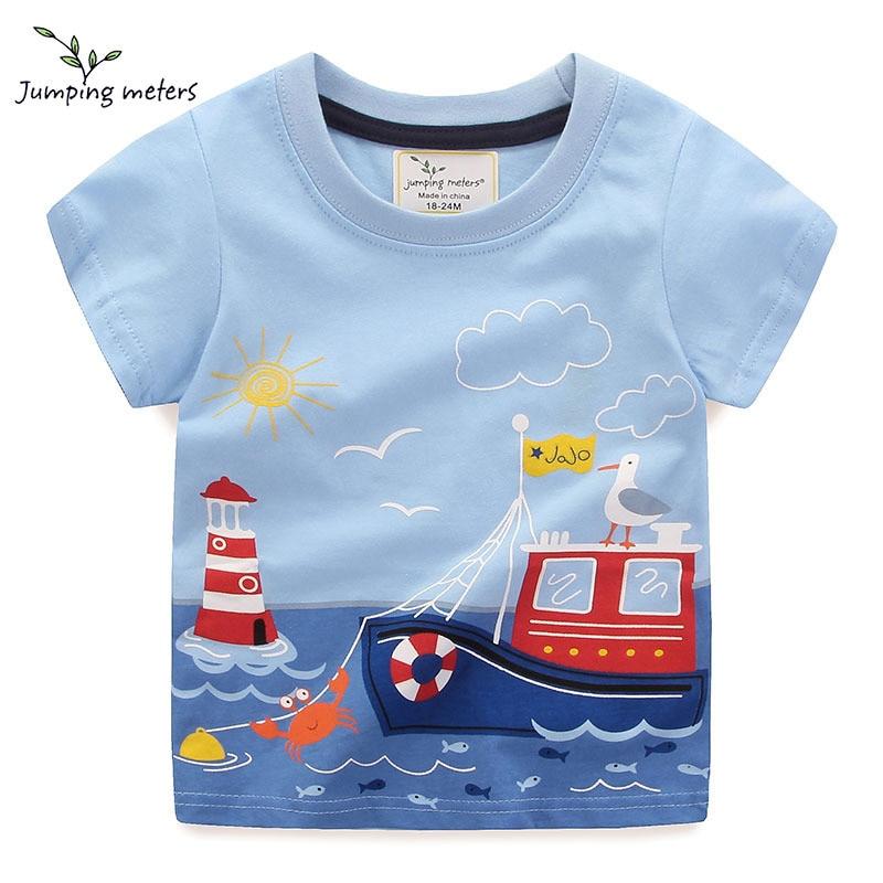 56744b93 JUMPING METERS Boy/Girl 2-6 Years Old Short Sleeve Boy T-Shirt Child Cotton  T-Shirt Short Sleeve Cartoon Fashion Top Casual New - aliexpress.com -  imall.com