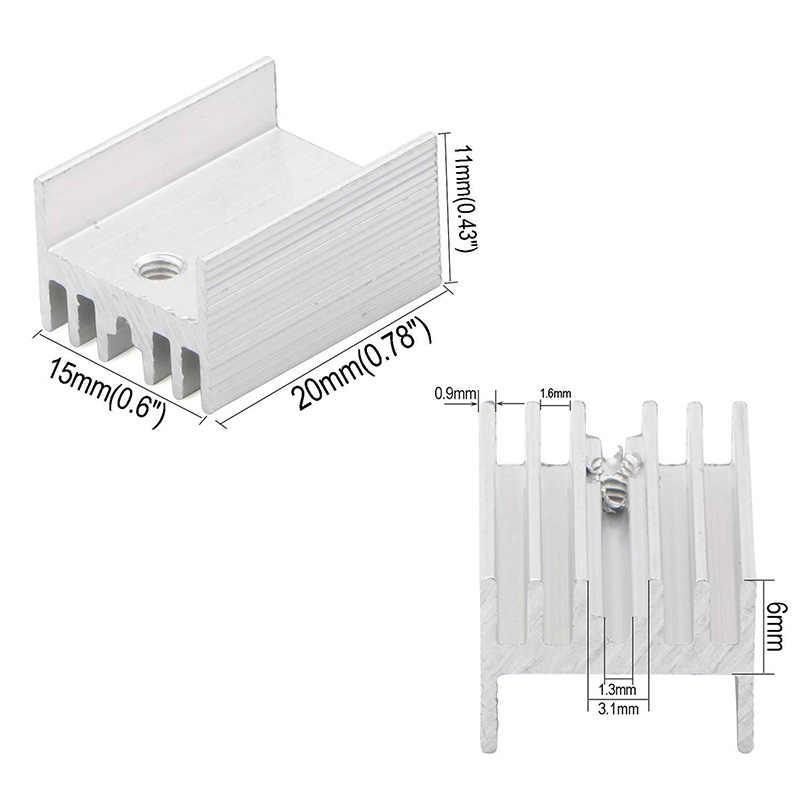 Aluminum Heatsink TO-220 IC Radiator Cooler Heat Sink Silver
