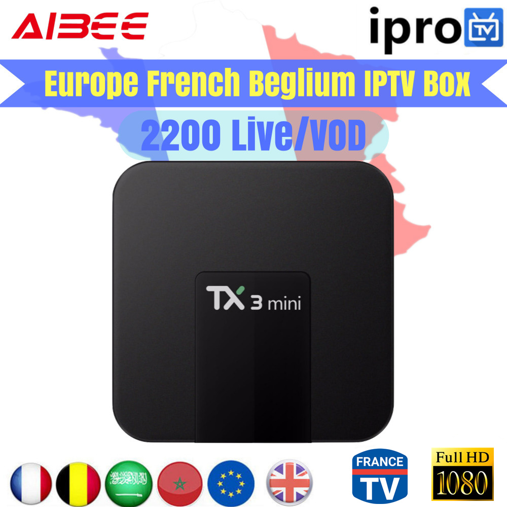 TX3 mini Android 7 1 TV BOX 1 Year IPROTV Europe French Arabic Germany IPTV 2000