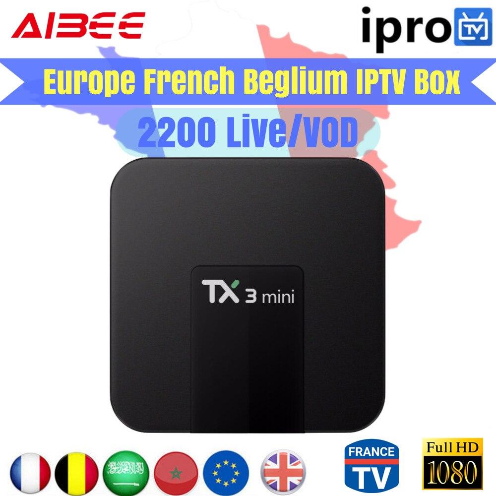 French IPTV X96 mini Android 7 1 Smart TV BOX 2300+IPROTV Europe