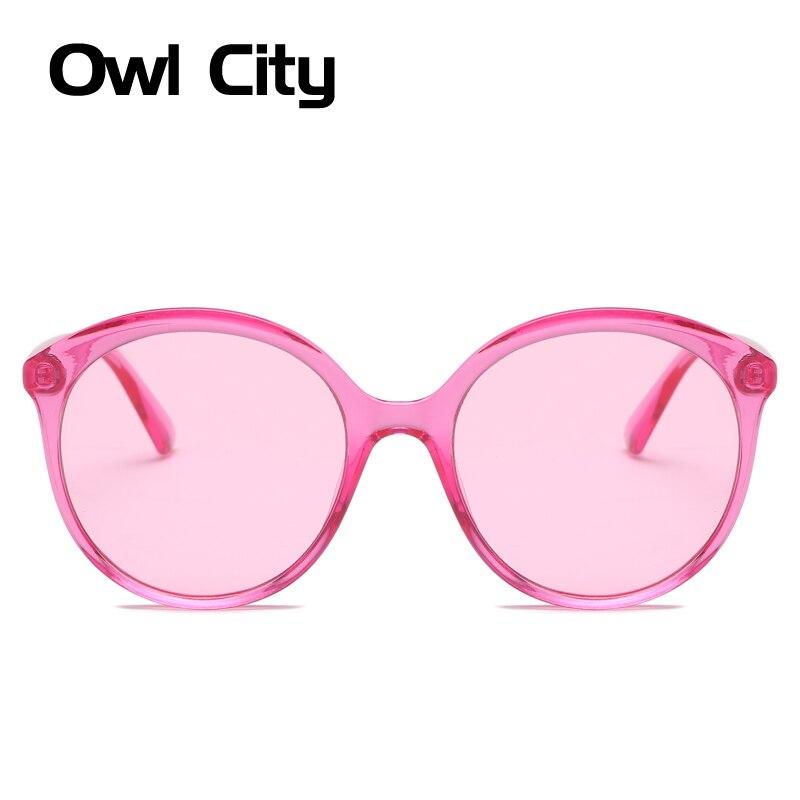 Owl City Rodada Óculos De Sol Das Mulheres Do Vintage Senhoras Óculos de  Sol Da Marca 1bdee63b04